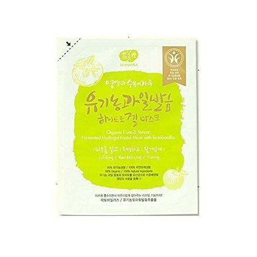 Preisvergleich Produktbild Whamisa Bio-Obst und Tomate Fermentiert Hydrogels Sheet Maske mit Lactobacillus