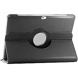 ebestStar - Compatible Coque Samsung Galaxy Tab 2 10.1, GT-P5110 P5100 Housse Protection Etui PU Cuir Support Rotatif 360, Noir [Appareil: 256.6 x 175.3 x 9.7mm, 10.1'']