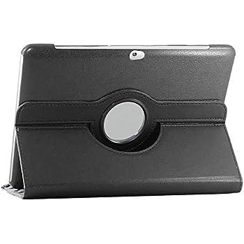 ebestStar - Housse Samsung Galaxy Tab 2 10.1, GT-P5110 P5100 - Housse Coque Etui PU cuir Support rotatif 360° + Film, Couleur Noir [Dimensions PRECISES de votre appareil : 256.6 x 175.3 x 9.7 mm, écran 10.1'']