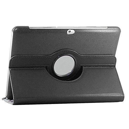 ebestStar - para Samsung Galaxy Tab 2 10.1, GT-P5110 P5100 [Dimensiones PRECISAS de su aparato : 256.6 x 175.3 x 9.7 mm, pantalla 10.1''] - Estuche Carcasa Funda PU cuero 360° rotativa + Película, Color Negro