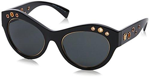 Versace Damen 0VE4320 GB1/87 54 Sonnenbrille, Schwarz (Black/Gray),