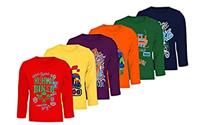 Kiddeo Boys Full sleeve t shirts (pack of 6)