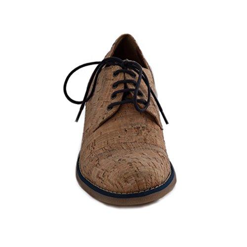 NAE Diana Kork Blau - Damen Vegan Schuhe - 3