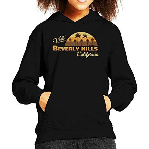 Coto7 Visit Beverly Hills California Kid's Hooded Sweatshirt