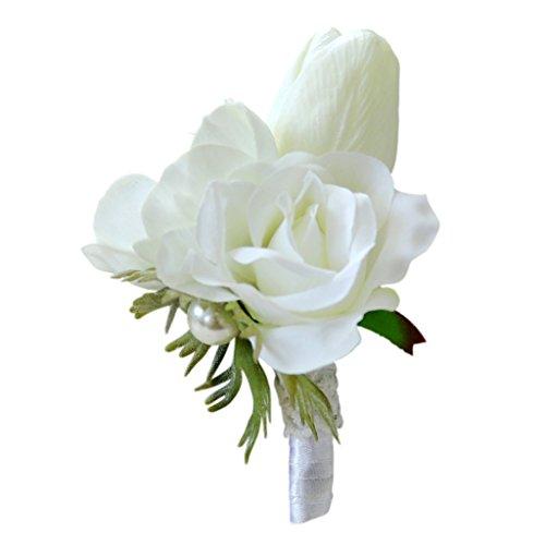 e Hochzeit Blumen Braut Anemone Blume Dekoration - Ansteckblume, 11 x 9 x 6cm (Ansteckblume Hochzeit)