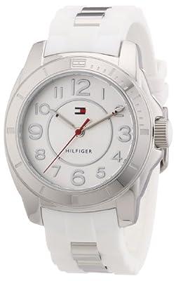 Tommy Hilfiger 1781306 - Reloj de cuarzo para mujer, correa de diversos materiales color blanco