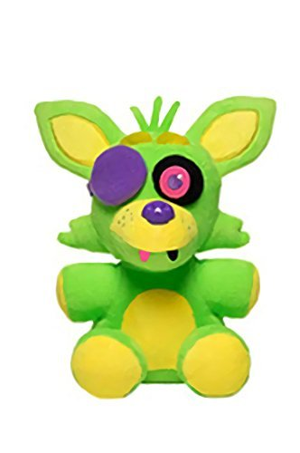 Five Nights At Freddys - Foxy Nightmare Neon Blacklight Plush - Green - 20cm 8""