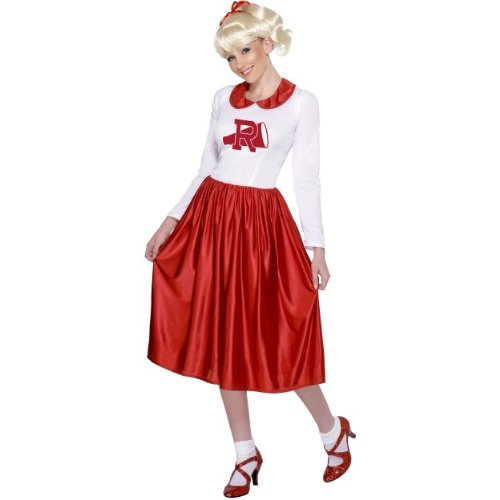 Smiffys Karneval Damen Kostüm Sandy Cheerleader Grease - Sandy Cheerleader Kostüm