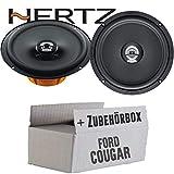 Hertz DCX 165.3-16cm Koax Lautsprecher - Einbauset für Ford Cougar Front Heck - JUST SOUND best choice for caraudio