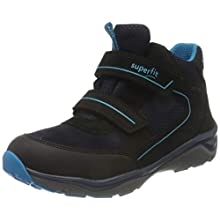 Superfit Boys' SPORT5 Sneaker, Black Blue 0010, 9 UK Child