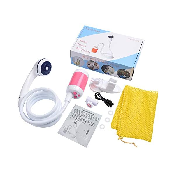Portable Shower Camping Shower Outdoor Shower,Built-in 4800mAh Battery,Electric Handheld Rechargeable Shower,Pumps Water Into Shower Stream 7