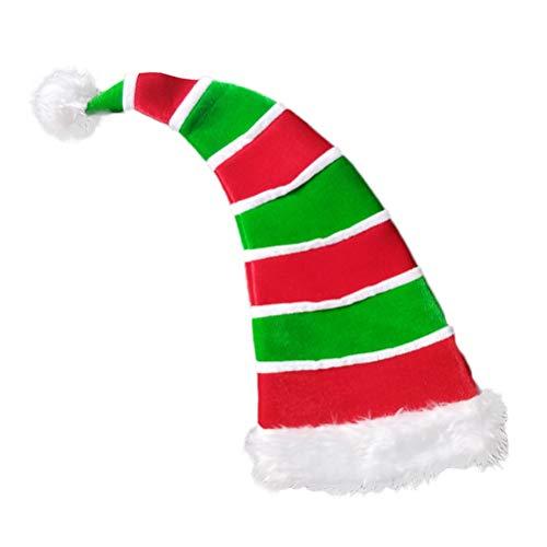 (BESTOYARD Weihnachtsmütze, Clownhut, dekorativ, gestreift, Bommel, Kopfschmuck, Weihnachten, Party, Gastgeschenke, Foto-Requisiten)