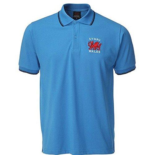 Manav (UK) Herren Poloshirt Mehrfarbig Mehrfarbig Mehrfarbig - Königsblau
