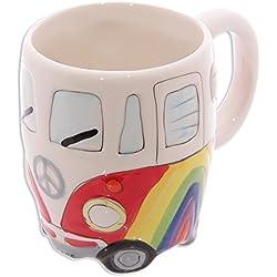 "Taza Furgoneta/Camper Bus ""Rainbow/Arcoiris"" Carro-casa"