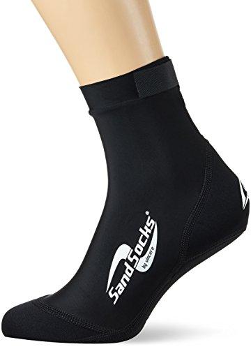 Vincere–Calcetines de Playa, Color Negro, tamaño 39-43 cm