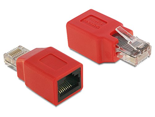 DeLock NICz RJ45 Crossover Adapt. Bu-St kompakt (Crossover-ethernet-kabel)