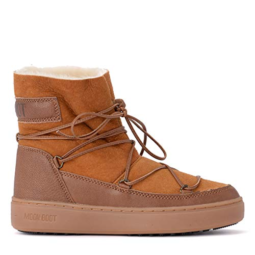 MOON BOOT Donna cod 24102700/002 pulse low shearling, in pelle colore whiskey