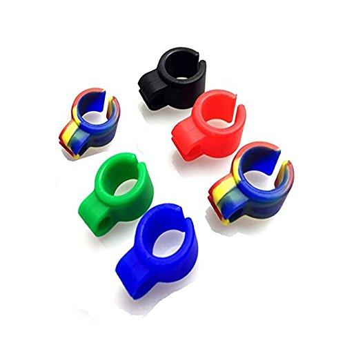 ICYANG 6 Pcs Weiche Silikon-Hände Geben Zigarette Finger Ring Halter Frei, Um Ihren Finger zu schützen, Gaming Raucher Ring, für die Gamers, Musiker, Treiber und Alle Raucher Zufällige Farben