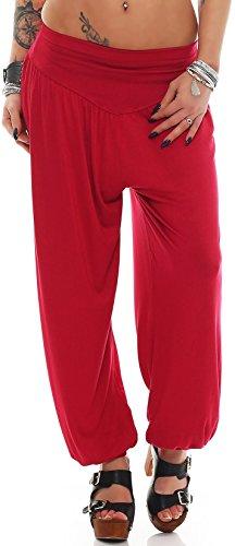 Yogapants in verschiedenen Farben Palazzohose Haremshose - S bis 4XL - Aladinhose Pumphose Yogahose Hose Yoga (Yogahose weinrot Gr. M) (Rot-yoga-hosen)
