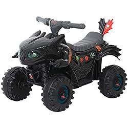 ROLLPLAY Mini Quad Électrique - Dragons, Pour enfants à partir de 2 ans, Jusqu'à max. 20 kg, Batterie 6 volts, Jusqu'à 2 km/h, Mini Quad Dragon, Noir
