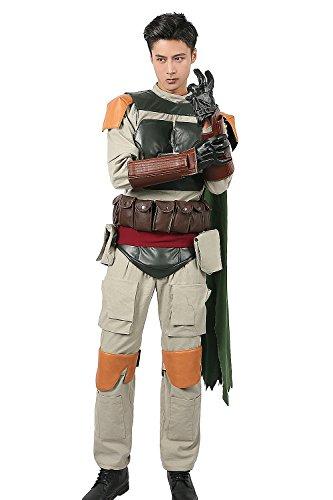 a Kostüm Herren Cosplay Armour Outfit mit Zubehör für Erwachsene Verrücktes Kleid Kleidung Merchandise (XL) (Boba Fett Cosplay Kostüme)
