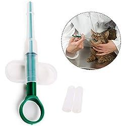 Gearmax Pet (Dog and Cat) Pilule de Capsule Tablette d'eau Tablette à injecteur Durable Syringes Alimentation pour Animaux domestiques DIY avec Pointe Souple