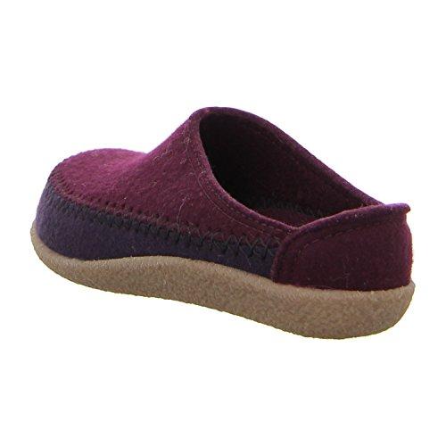 Pantofole in feltro avelignesi Blizzard credo-DUO, colore bordeaux. 718004-9 Bordeaux