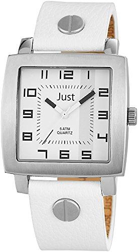 Just Watches 48-S10445-WH - Orologio da polso uomo, pelle, colore: bianco