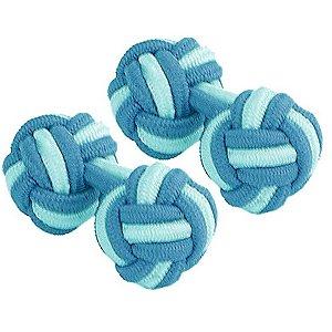 Blanc soie Bleu Ciel et boutons de manchette de noeud