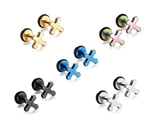vnox-hommes-femmes-acier-inoxydable-petite-croix-oreille-boucles-doreilles-vis-retour-pack-de-5-pair
