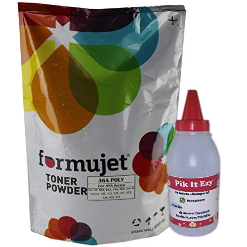 Formujet 36A Polyester Toner Powder 1 Kg for Refilling Laser jet Toner Cartridge - HP 88A / 278A / 285A/ 35A / 36A and Canon 925, 325, 328, 728, 337 etc
