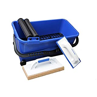 Professional Tiler Tool Set Tiling Kit Grout Sponge Float Bucket Rollers Kubala