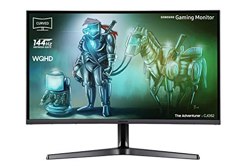 Samsung C32JG52 80 cm (32 Zoll) Curved Gaming Monitor (HDMI, DisplayPort, 3,5 mm Audio, 4ms Reaktionszeit (G/G), 144 Hz Bildwiederholungsrate, 2560 x 1.440 Pixel), dunkelsilber Black-box-samsung