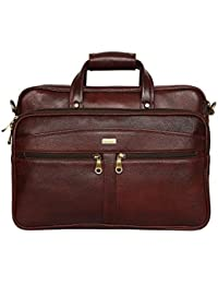 """SCHARF Enzo Buster - Voyagers Vows 15.6"""" Genuine Leather Laptop Traveller Bag"""
