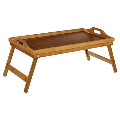 Frühstückstablett fürs Bett oder TV- Tablett für das Sofa aus hochwertigem BAMBUS (Deco-tv-ständer)