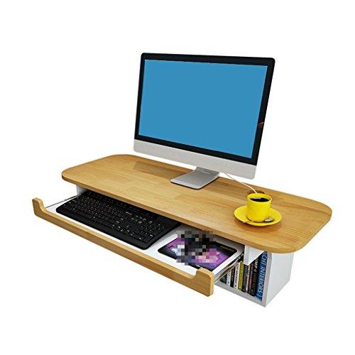 LAMXF-Laptoptisch Verstellbarer Laptop BettTablett Holz Floating Schreibtisch Regal Laptop Tisch Bücherregal für Wohnzimmer Schlafzimmer Studie Home Office Schreibtisch Workstation (Bücherregal Verstellbare Regale)