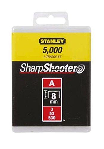 Stanley 1-TRA205-5T - Punti Tipo A Per Graffatrice, 8mm, Confezione da 5000 Pezzi