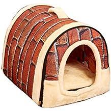 Suncaya 2 en 1 Cómodo Casa para Mascotas y Sofá Portátil Plegable de Cama para Perro