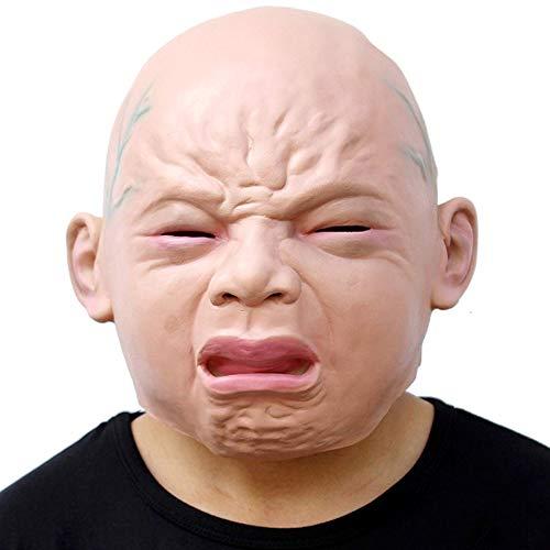 WMIAO Neuheit Halloween Kostüm Party Latex Head Maske Baby Face (Cry Baby)