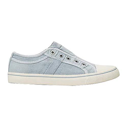 Sfit Damen Slip on Sneaker Platform Low-Top Canvas Sneaker Atmungsaktive Turnschuhe Bequeme Laufschuhe Halbschuhe Ohne Schnürung -