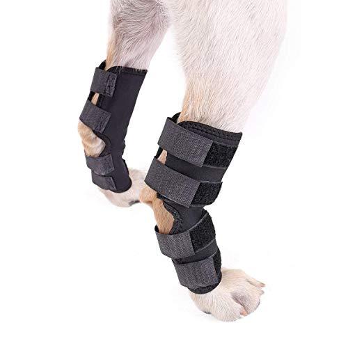 XZANTE Hund Zurueck Beinstuetze, Hundehunde- Hintere Bein Sprunggelenk Wraps Schuetzt Wunden, Wie Sie Compression Brace Heals Heilen, Beugt Verletzungen und Verstauchungen Hilft Arthritis