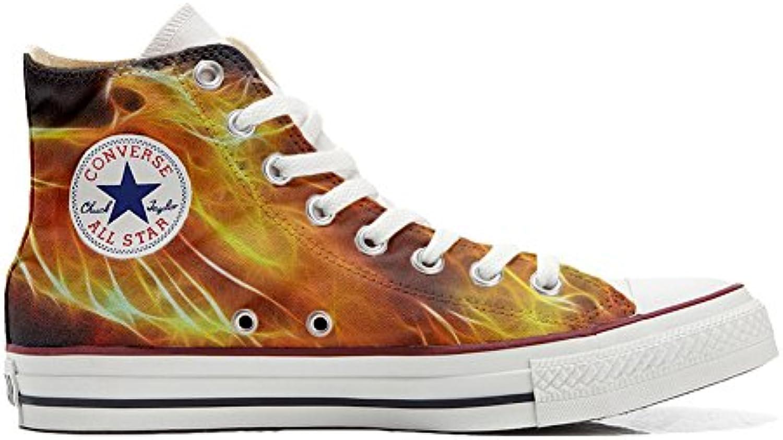 Scarpe Converse All Star Alte personalizzate (scarpe artigianali) artigianali) artigianali) Fire   Bella apparenza    Sig/Sig Ra Scarpa  0efa6c