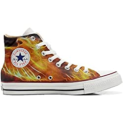 Converse Personalizados All Star Customized - Zapatos Personalizados (Producto Artesano) Fire