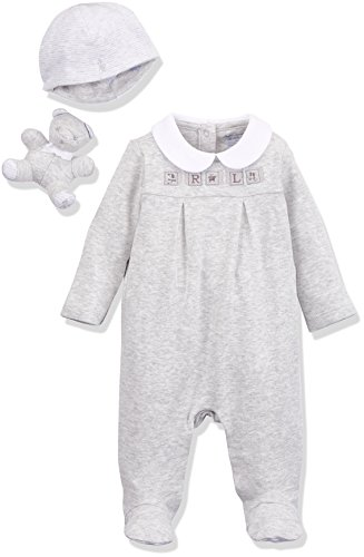 Polo Ralph Lauren Kinder (Polo Ralph Lauren Unisex Baby Heathered Interlock-NEUTRAL GFT-AC-GBX Gift Box Set Strampler, Mehrfarbig (Grey 20), 56 (Herstellergröße: 3M))