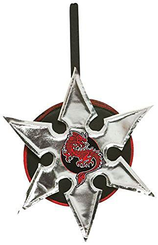 Rasta Imposta 5944 Silberfarbener Ninjastern Handtasche (Imposta Kostüme Rasta)