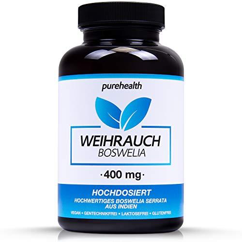 Boswellia Weihrauch Kapseln • HOCHDOSIERT 400 mg pro Kapsel • 150 Kapseln = hält länger als 1 Monat • Bekannt aus dem TV! • 100% vegan • Hergestellt in Deutschland