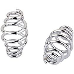 H HILABEE Pair Solo Seat Spring Spiral For Chopper Softail Cafe X