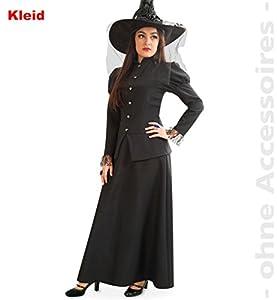 Party-Chic-Disfraz de Bruja para Mujer, Talla 44, Color Negro, (Fritz Fries & Söhne GmbH 12325)