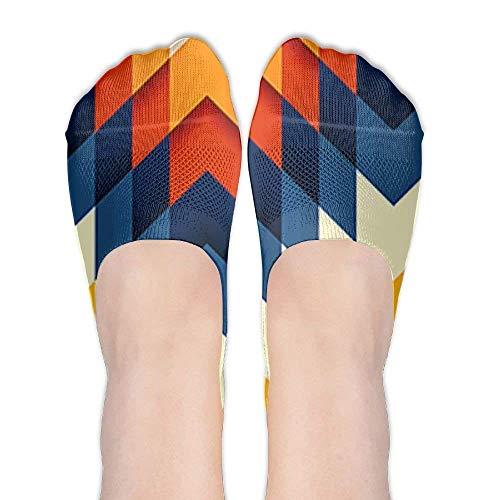 jiilwkie PatternFemale Casual Summer Sports Stealth Boat Socks Low Cut Liner Socks. -