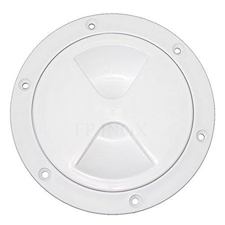 Trappe redonda blanca pl stico 205 mm con junta